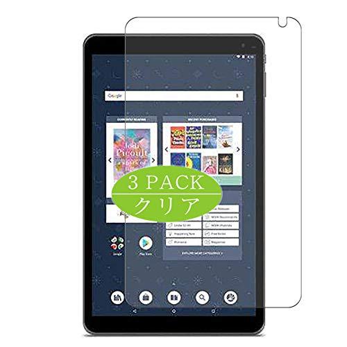 Vaxson TPU Pellicola Protettiva, compatibile con Barnes & Noble NOOK Tablet 10.1 inch, Screen Protector Pacco da 3 [ Non Vetro Temperato ]