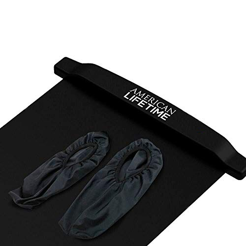 American Lifetime Slide Board - Workout Board for Fitness Training and Therapy with Shoe Booties and Carrying Bag Included (Black Booties, Replacement)