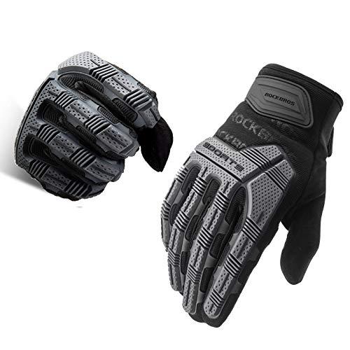 ROCKBROS Handschuhe Motorrad Fahrrad für Damen Herren Touchscreen Fahrradhandschuhe Anti-Stoß für Outdoor-Sports Motorrad, Fahrrad, Ebikes, Camping usw. M-XXL