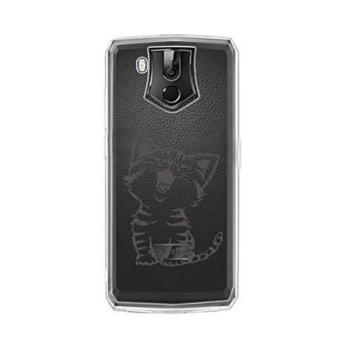 LYZX Hülle für Oukitel K10 Handyhülle Transparent TPU Silikon Bumper Schutzhülle Soft Cover Schale Hülle Handy Hülle Tasche Compatible with für Oukitel K10 (6.0