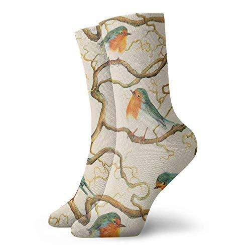 Robin In The Sacacorchos Calcetines clásicos de confort atlético casual calcetines 30 cm/11.8 pulgadas para hombres y mujeres unisex