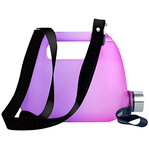 Haihui Hervidor de agua, mochila, botella de agua, vaso para deportes al aire libre, vaso de negocios, duradero, práctico, portátil, 1500 ml, PETG