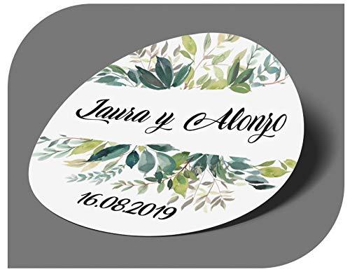 CrisPhy - Adesivi personalizzati per matrimonio, con nome e data, etichette adesive per inviti, matrimoni, battesimi, fidanzamenti, comunioni, compleanni, feste, vintage, timbri