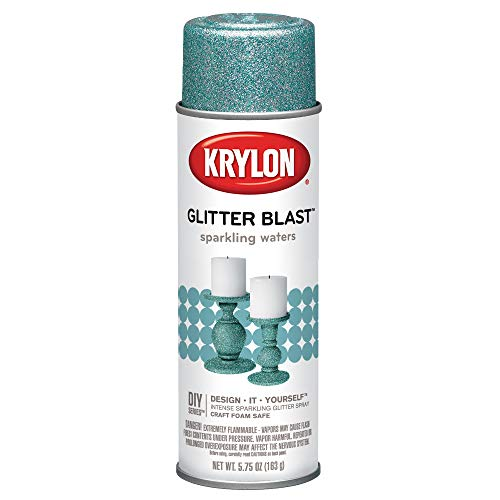 Krylon K03810A00 Glitter Blast, Sparkling Waters, 5.75 Ounce,Small Can