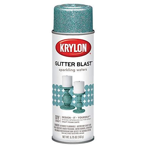 Krylon Glitter Blast Glitter Spray Paint for Craft Projects, Sparkling Waters Blue