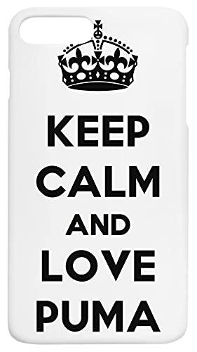 Keep Calm And Love Puma Custodia Per Telefono Compatibile Con iPhone 7+, iPhone 8+ Copertura in Plastica Dura Hard Plastic Cover