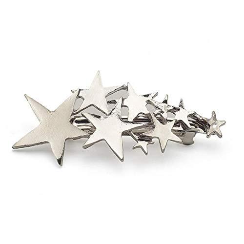 1pc Alloy Hairpin Silver Hair Ornament Hair Clip Stars Shape Hair Pins Women Cute Star Hair Styling Jewelrys