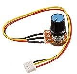 BOJACK B10K Potenciómetro rotativo cónico lineal de 3 terminales WH148 Resistencia variable de película de carbono de 10 K Ohm con conector XH2.54-3 Cable de cable de conector (paquete de 2 piezas)