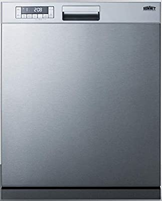 "Summit Appliance DW2435SSADA ADA Compliant 24"" Wide ENERGY STAR Certified Built-In Dishwasher with Stainless Steel Door and Front Controls, Digital Touch Controls, Automatic Detergent Detection"