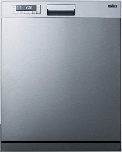 """Summit Appliance DW2435SSADA ADA Compliant 24"""" Wide ENERGY STAR Certified Built-In Dishwasher with Stainless Steel Door and Front Controls, Digital Touch Controls, Automatic Detergent Detection"""