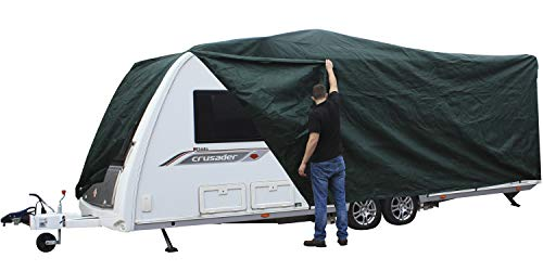 Andes Green 14-17FT Heavy Duty Deluxe Breathable Waterproof Caravan Cover