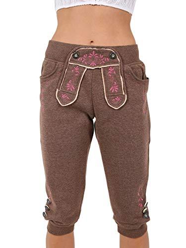 Krüger Damen Trachtenhose lang, Modell: Textil-Hose Array Joggers, über Knie, Art.-Nr. 038310-0-0007, M, braun