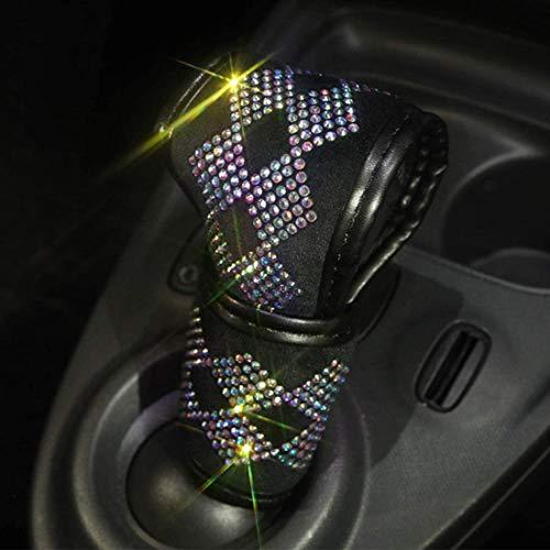 Bling Bling Auto Shift Cubierta de caja de cambios de cristal brillante para coche, botones de cristal de estrás, protector de barra dentada, decoración de coche para mujeres (PDT-LX)