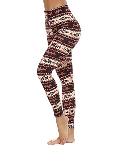 Abollria 3/4-leggings voor dames, ondoorzichtig, microvezel, met kant, dunne stretch-capribroek