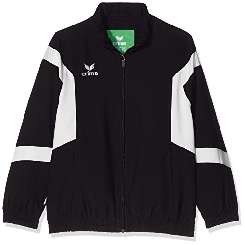 Erima 1016 Veste Classic Team Mixte Enfant, Noir/Blanc, FR : XXS (Taille Fabricant : 128 cm)
