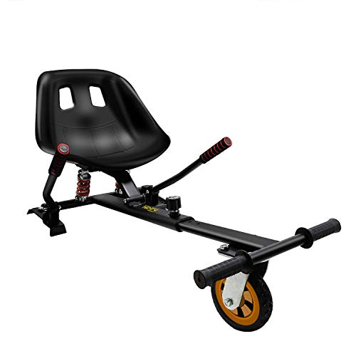 """Hiboy HC-02 Hoverboard Seat Attachment with Rear Suspension Go Kart Accessory for 6.5"""" 8"""" 10"""" Two Wheel Self Balancing Scooter"""