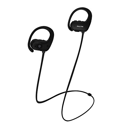 Ralyin MP3 Music Player Sport Wireless Headphones Bluetooth Earbuds Built in 8GB Memory Headset Sweatproof Earphones for Running Gym Workout Audifonos with Mic,Best Sound Walkman (Black)