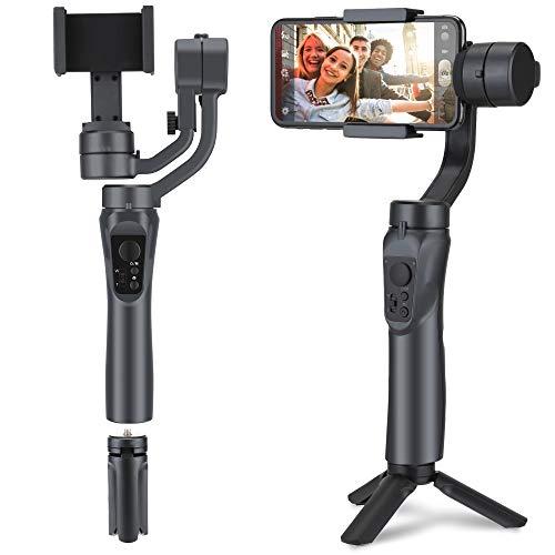 Gimbal Smartphone TTLIFE 3 Assi Stabilizzatore Smartphone Portatile con 3 modalità telefoni portatili Compatibile con iPhone Android per Vlog Youtuber durata della batteria 7h Stabilizzatore