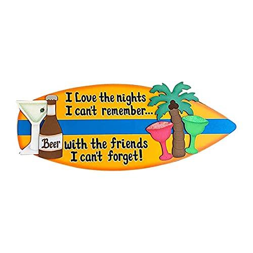 Crazyfly Letreros de tabla de surf, letreros de madera para decoración de pared, para telón de fondo de playa, playa, tabla de surf, telón de fondo de fiesta, decoración de bar, decoración del hogar