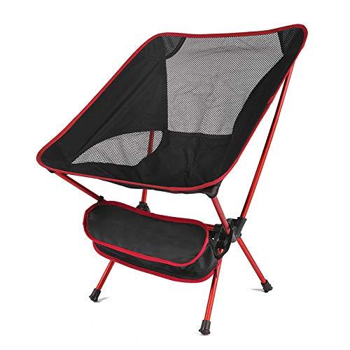 jwj utomhus vikbar cha camping fiske grillstol bärbar ultralätt hopfällbar stol bärbar hopfällbar cha (färg: Röd)