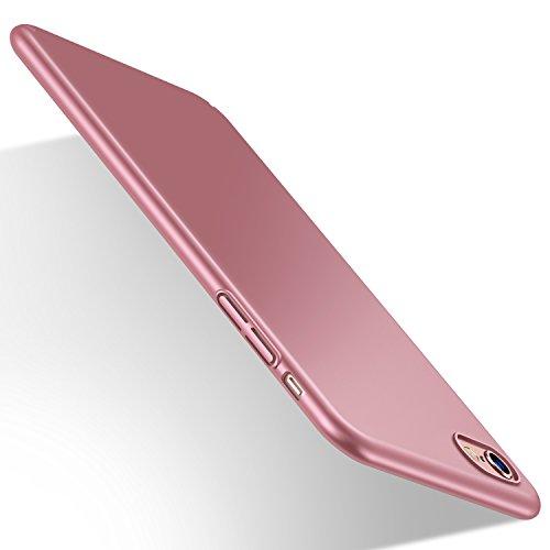 Humixx HumixxiPhone 6s Plus Hülle, iPhone 6 Plus Hülle, [PZQ Seris] Anti-Fingerabdruck, Anti-Scratch FeinMatt FederLeicht Hülle Tasche Schale Hardcase für iPhone 6/6s Plus (Rose Gold)