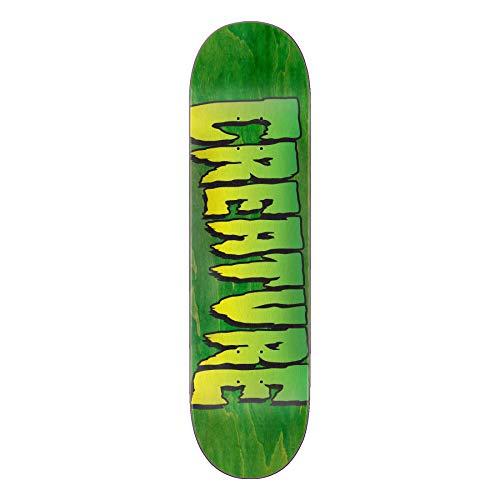 Creature Skateboard-Brett / Deck Logo Stump 1, 21,6 cm, Grün