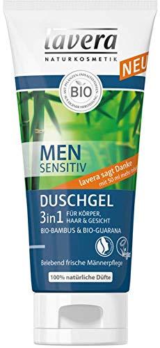 Lavera Dusche Men sensitiv Duschgel 3in1 für Körper, Haar und Gesicht 3er Vorteilspack (3 x 200ml)