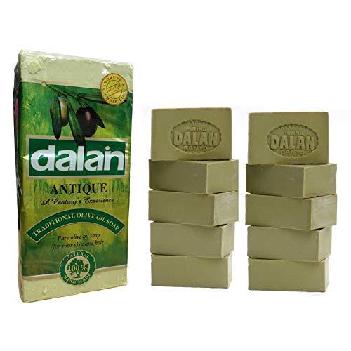 Lot de 60 barres de savon naturel 100 % pure à l'huile d'olive Dalan Turquie