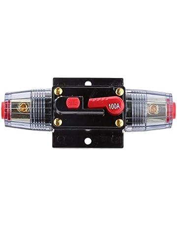 32V Protezione Auto Impermeabile Interruttore Automatico in Linea Audio Portafusibile Interruttore Automatico per Protezione per Car Audio 10A Interruttore Automatico,MoreChioce 12V 24V