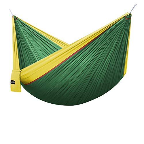 G4Free Double Camping Hammock Parachute Nylon 660lbs(118'x 75') with Carabiners&Straps