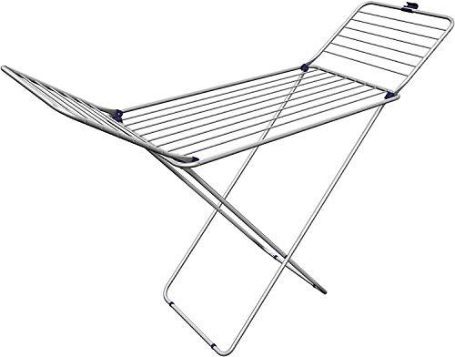 Gimi Tender Tendedero de pie de Aluminio y Acero, 20 m de Longitud de tendido