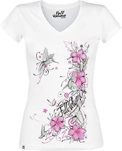 Full Volume by EMP Shades of Truth Mujer Camiseta Blanco XXL, 95% algodón, 5% elastán, Regular