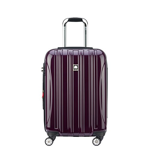 DELSEY Paris Helium Aero Hardside Expandable Luggage with Spinner Wheels, Plum Purple, Carry-On 21 Inch