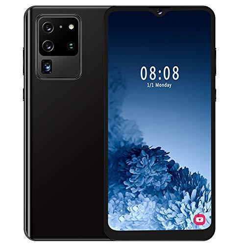 Goshyda Smartphone, S30U + 4 + 64G Teléfono móvil Inteligente con identificación Facial de Doble Tarjeta de 6.7 Pulgadas con Pantalla táctil de 5 Puntos, para Android 9.1(Enchufe de la UE)