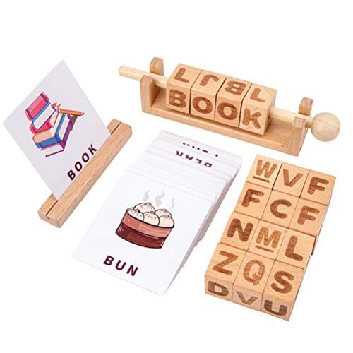 Yorimi Juguete educativo para niños de matemáticas de madera para aprender matemáticas, números y símbolos ábaco juego de operación de rompecabezas con tarjetas
