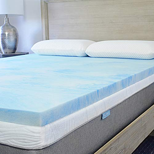 Sure2Sleep Cal King Premium, 3 LB. Gel Swirl Memory Foam Mattress Topper Made in USA 2-Inch
