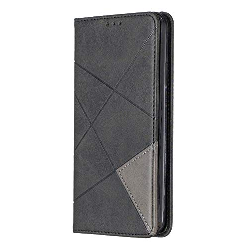 Nokia 1.4 Case,PU Leather Flip Case Notebook Wallet ShockProof Cover with Kickstand Magnetic Stand Card Holder ID Slots Soft TPU Bumper Protective Skin Case,Black