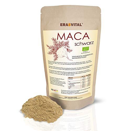BIO schwarzes Maca Extrakt Pulver gelatiniert aus Peru Black Maca from Peru 1000 g DE-ÖKO-013