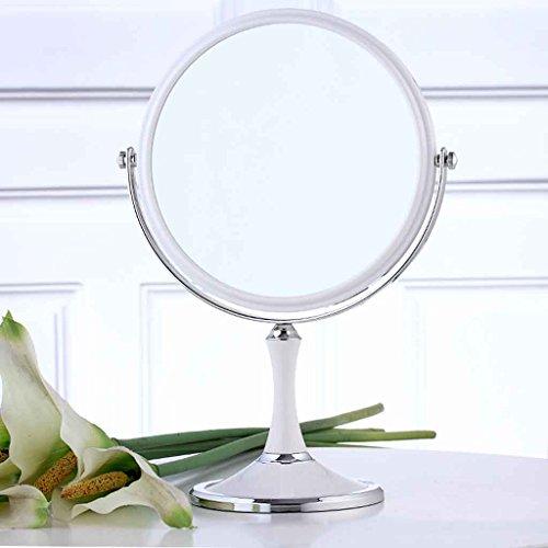 Miroir de maquillage de haute définition à double face Miroir de maquillage de bureau Miroir de beauté Miroir carré Miroir de forme simple à double face HD Triple Zoom 7/8 po Xuan - worth having ( Couleur : Rond , taille : 8 inches )