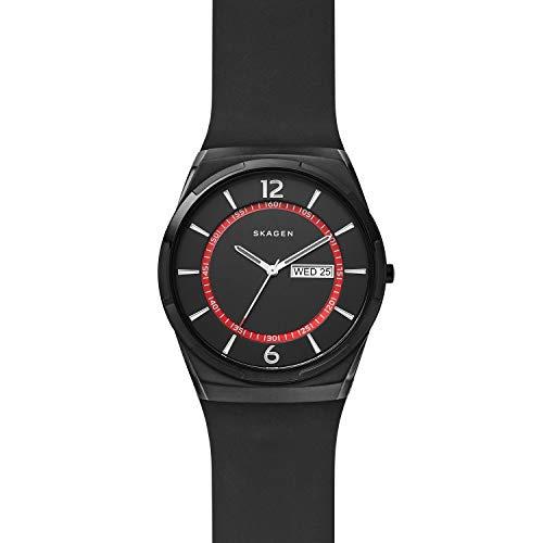 Skagen Herren Analog Quarz Uhr mit Silikon Armband SKW6506