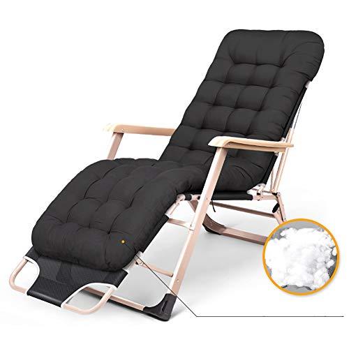 Fauteuils de salon inclinables Chaise réglable de gravité zéro pour les personnes résistantes, chaise longue de soleil inclinable durable de Textilene de patio avec le coussin épais, appui 330lbs