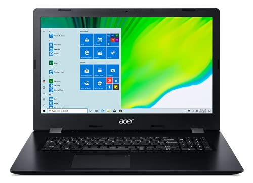 Acer Aspire 3 Slim 43,9 cm (17,3 Zoll) HD+ Laptop, Intel Core i5-1035G1 (Beats i7-7500U) bis zu 3,6 GHz, Intel UHD Graphics, Wi-Fi, DVD-Brenner, HDMI, Windows 10, WOOV 32 GB Micro-SD-Karte (8G+1T HDD)
