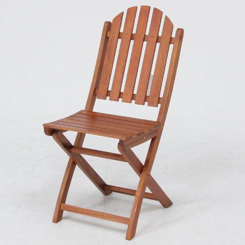 木製ガーデンチェア 2脚セット 81057x2