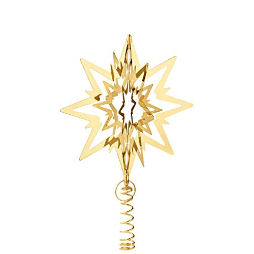 Georg Jensen Star Christmas Tree Topper Medium, Gold