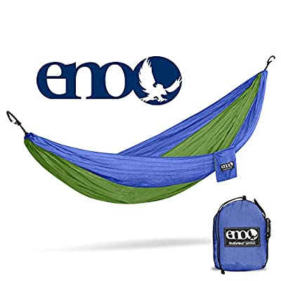 ENO, Eagles Nest Outfitters DoubleNest Lightweight Camping Hammock, 1 to 2 Person, Royal/Lime