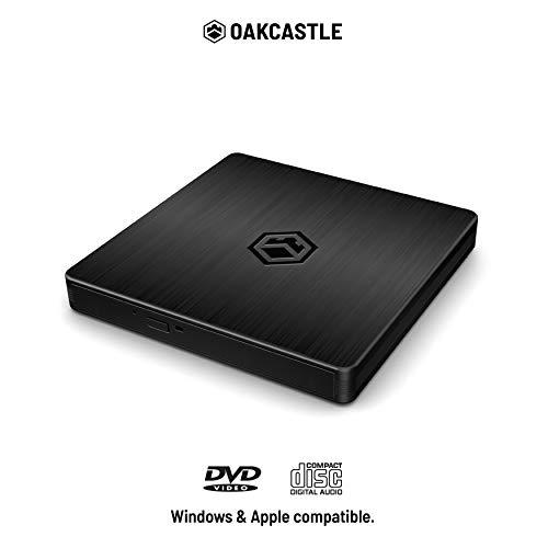 Oakcastle ED100 - Reproductor de CD y DVD Externo, Modelo Mini para Ordenador Portátil, PC, Puerto USB C, USB 3.0 Ocultos, Universal, Multiregión