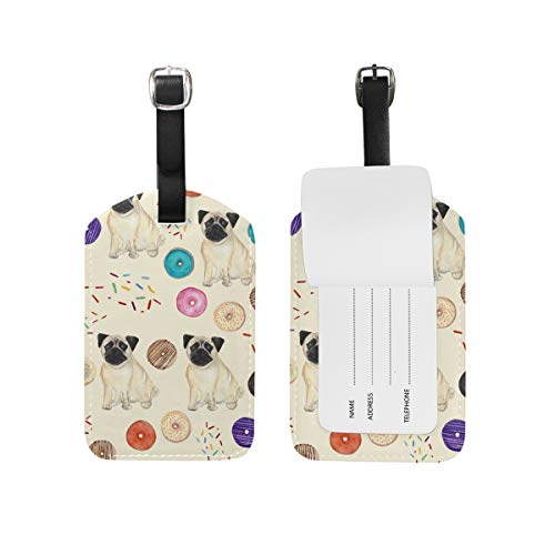Hundemarke, PU-Leder, zum Aufhängen an Reisetasche, Koffer, Gepäck