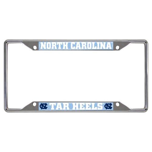 FANMATS - 14901 NCAA UNC University of North Carolina - Chapel Hill Tar Heels Chrome License Plate Frame 6.25'x12.25'