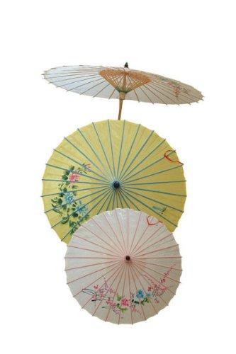 P 'tit Clown–62440–Sonnenschirm Chinesische handbemalt–Einheitsgröße–zufällige Farbauswahl