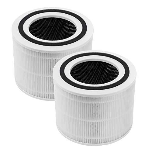 XIMOON 2 filtros de repuesto Core 300-RF para purificador de aire LEVOIT Core 300, filtro HEPA 3 en 1 de grado H13 con filtro de carbón activado y prefiltros